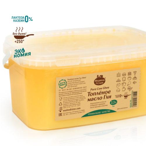 Масло Гхи | 3.3 л (3 кг) Медведь и Слон