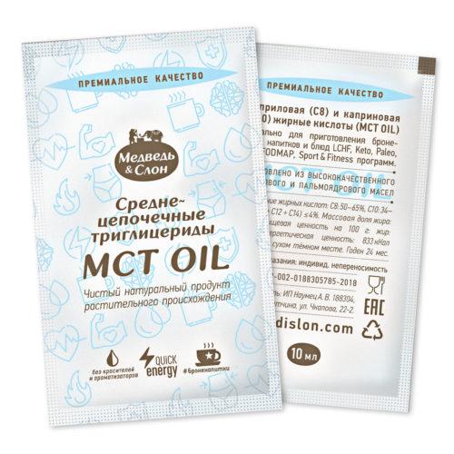 MCT oil | 25 саше по 10мл Медведь и Слон