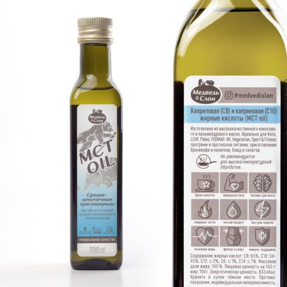 MCT oil 250мл (в стекле) Медведь и Слон