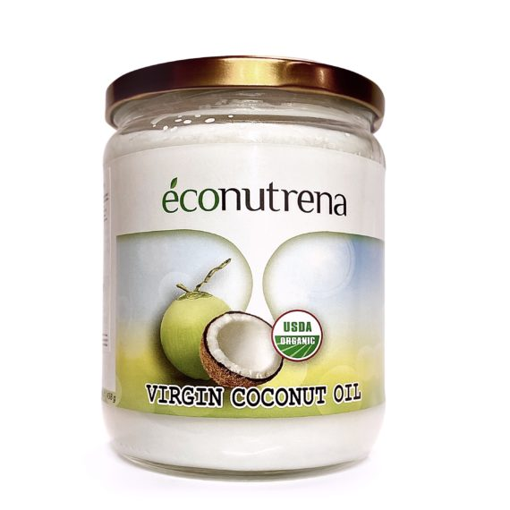 Масло кокоса Econutrena Organic | 500мл (458г) Медведь и Слон