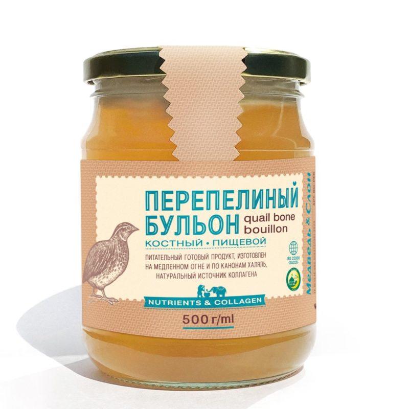 Перепелиный бульон костный   ХАЛЯЛЬ   500г Медведь и Слон 1